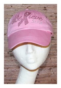 Baseball Cap SIFH Believe Breast Cancer - Pink