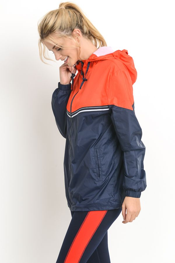 Color Block Hooded Jacket