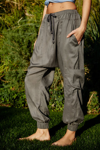 Rise To The Sun Solid Harem Pants