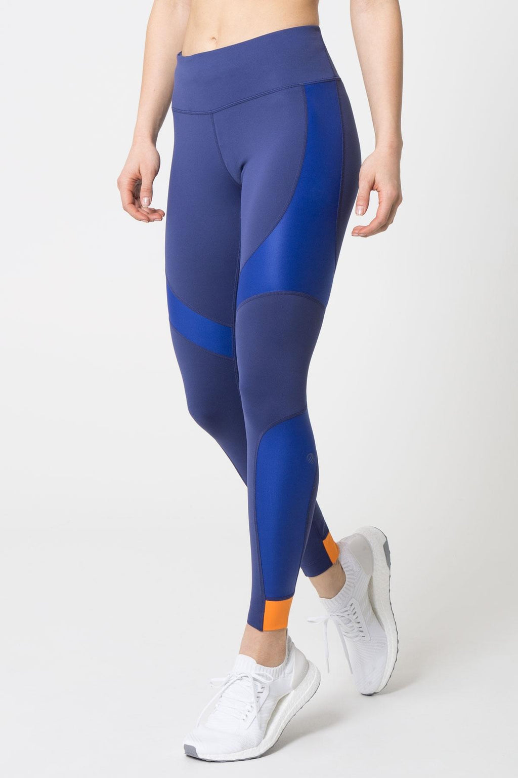 Runaway Color Block Metallic Panel Leggings - Blueberry
