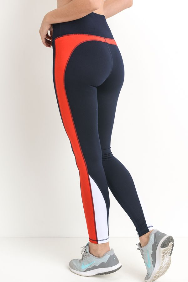 Mono B Color Block Highwaist Full Leggings