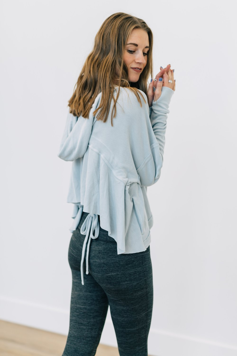 Free People Movement Ebb & Flow Hoodie - Light Blue