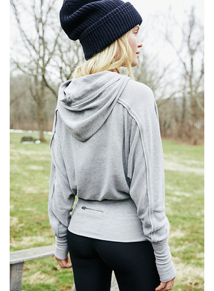 Free People Movement Ready Go Hoodie - Grey Combo