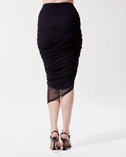 Shade Ruched Mesh Skirt at 185.00
