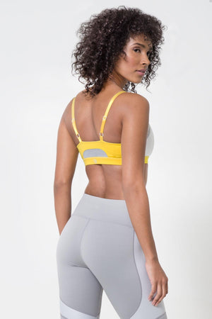 Fiesta Tri Color Light Sports Bra - White