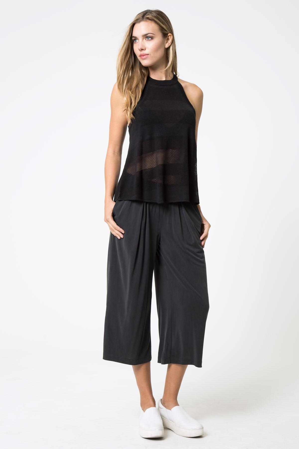 Allude Silk Blend Top - Black