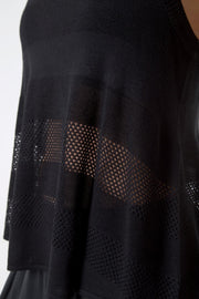 Allude Silk Blend Top - Black at 45.00