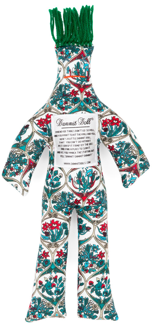 Dammit Doll Turquoise Tile Stress Doll