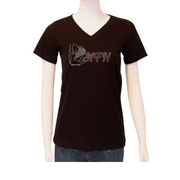 Signature Baby Doll V-Neck Tee Shirt - Black
