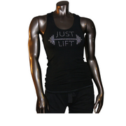 Just Lift Rhinestone Tank - Black