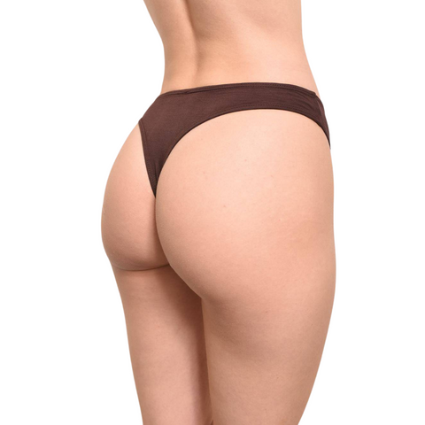 Eco-Modal Underwear - Thongs - Chocolate