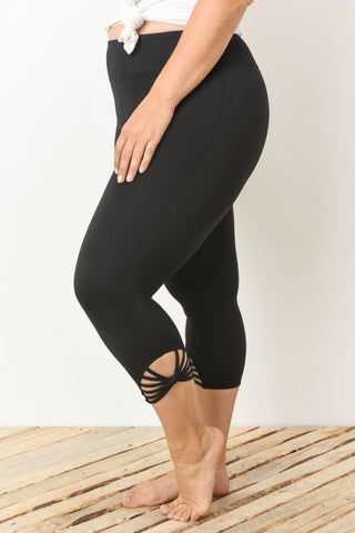 Webbed Capri - Plus Sizes