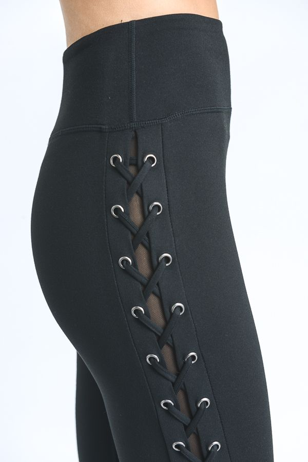 High Waist Eyelet Leggings