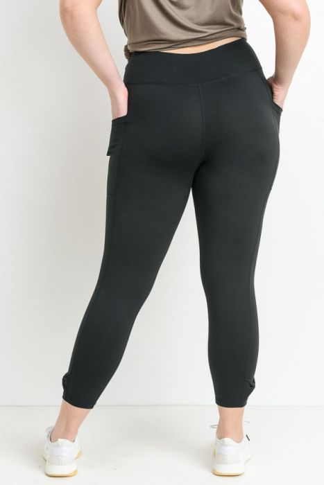 Mono B Bow Accent Highwaist Full Leggings - Plus Sizes