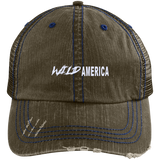 Wild America Distressed Unstructured Trucker Cap