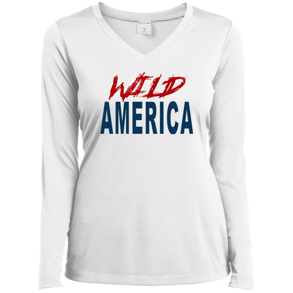Wild America Ladies' LS Performance V-Neck T-Shirt