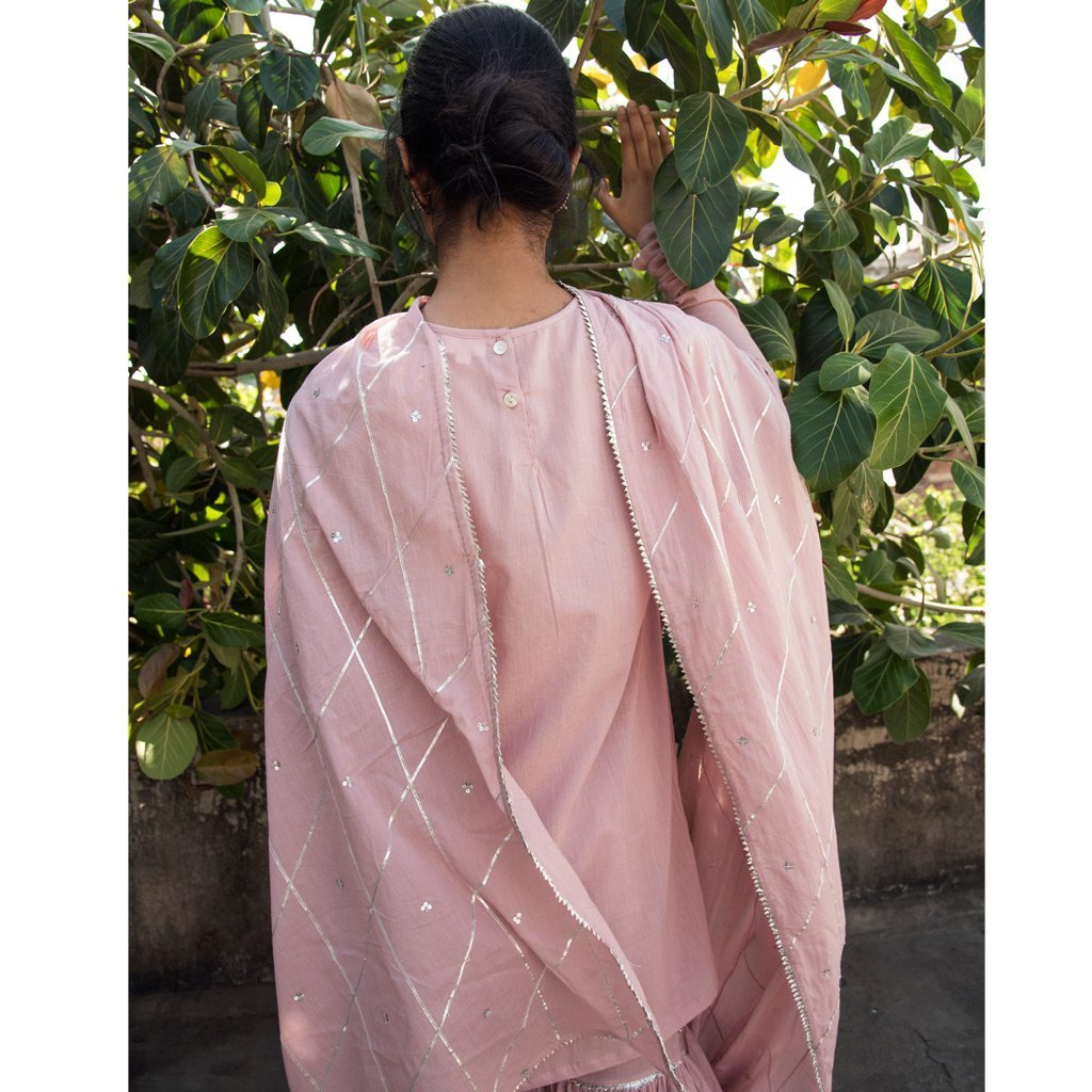 AFSANA (Sharara-Old Rose) - Tokree Shop Jaipur