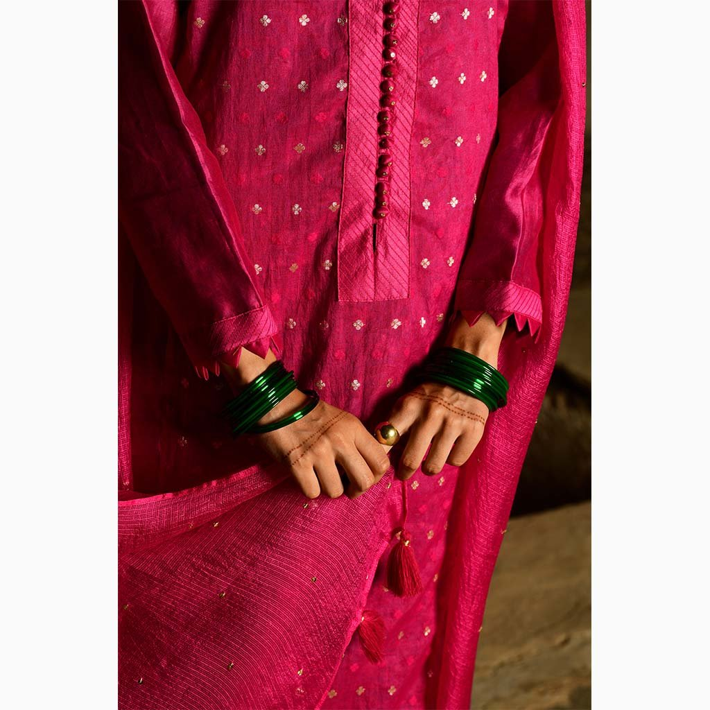 MRIGANKA (Set of 3-Rani Pink) - Tokree Shop Jaipur