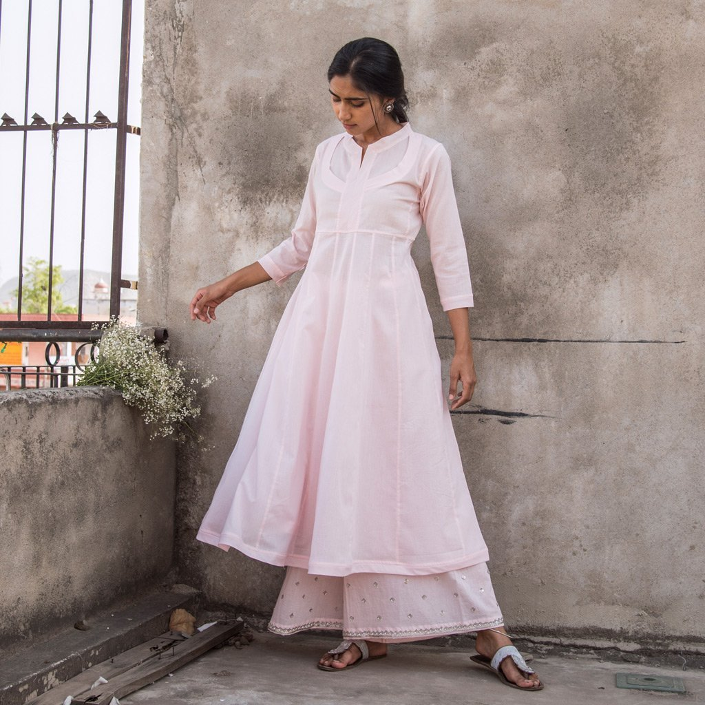 SAAKSHI (Kurta/Dress-Powder Pink)