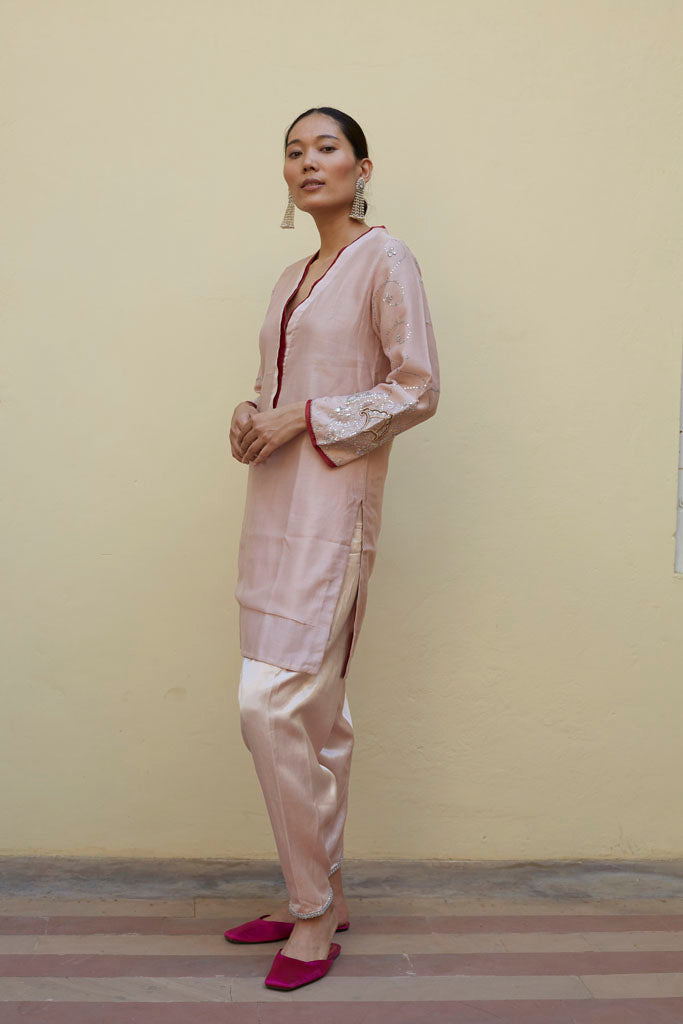 SHORT KURTA (OLD ROSE ) (SET OF 3)