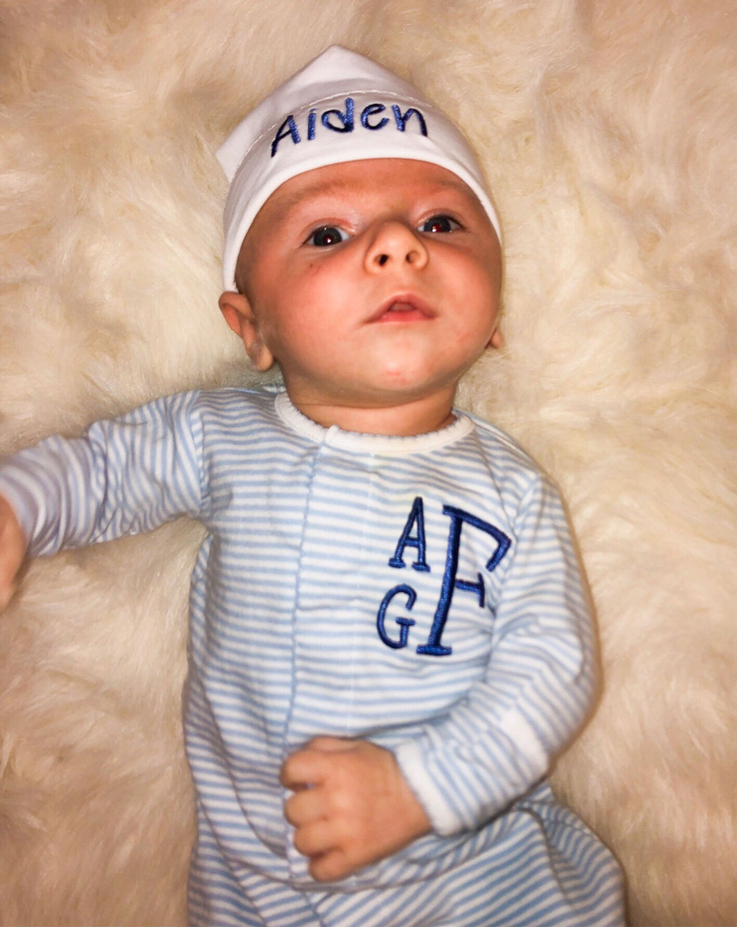 Welcome Home/Newborn Baby outfit - BOY - Personalized