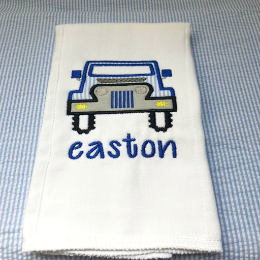 Personalized/Monogrammed Burp Cloth - Boy