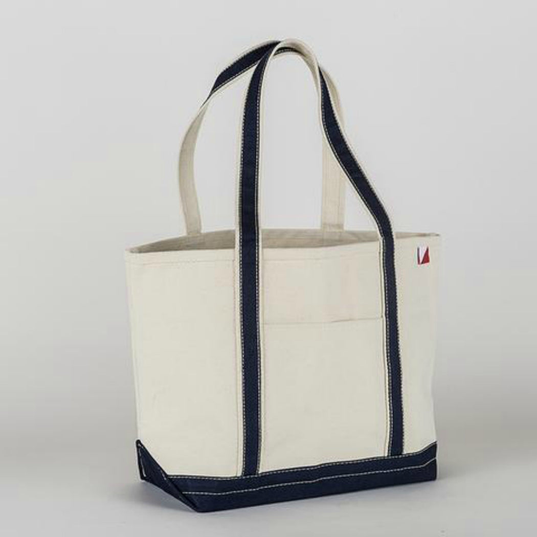 Monogrammed Canvas Boat Tote