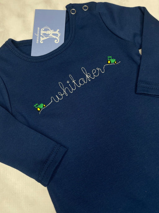 Boys Baby Personalized Long Sleeve Romper