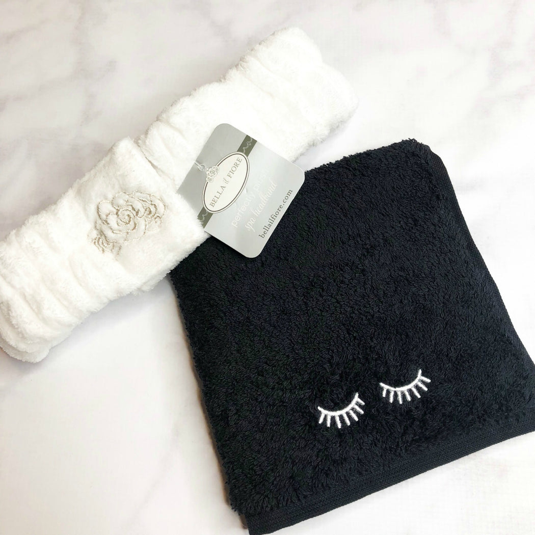 Personalized Makeup Washcloth and Spa Headband