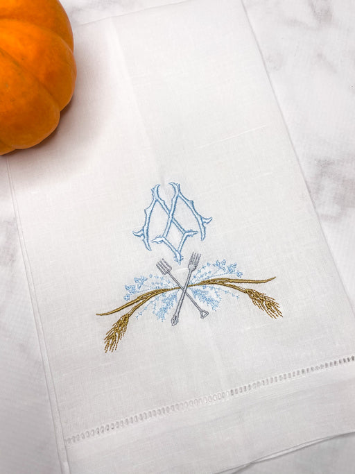 Monogrammed Farm to Table Guest Towel
