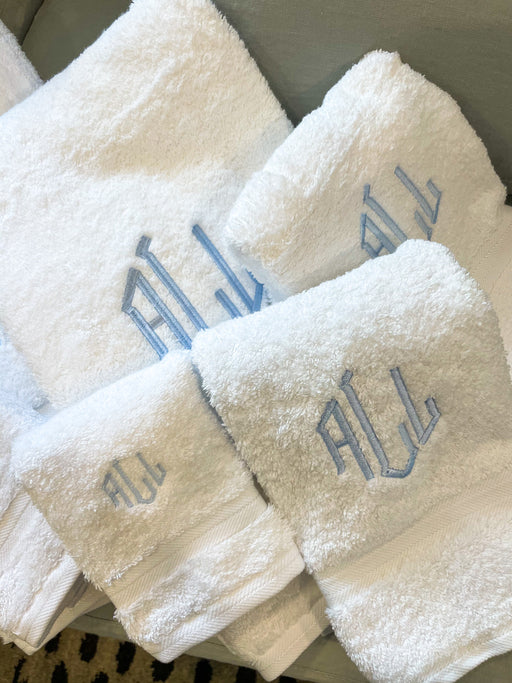 Set of Monogrammed Bath Towels