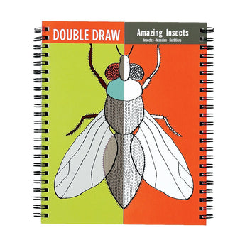 Amazing Insects Double Draw & Colour Book