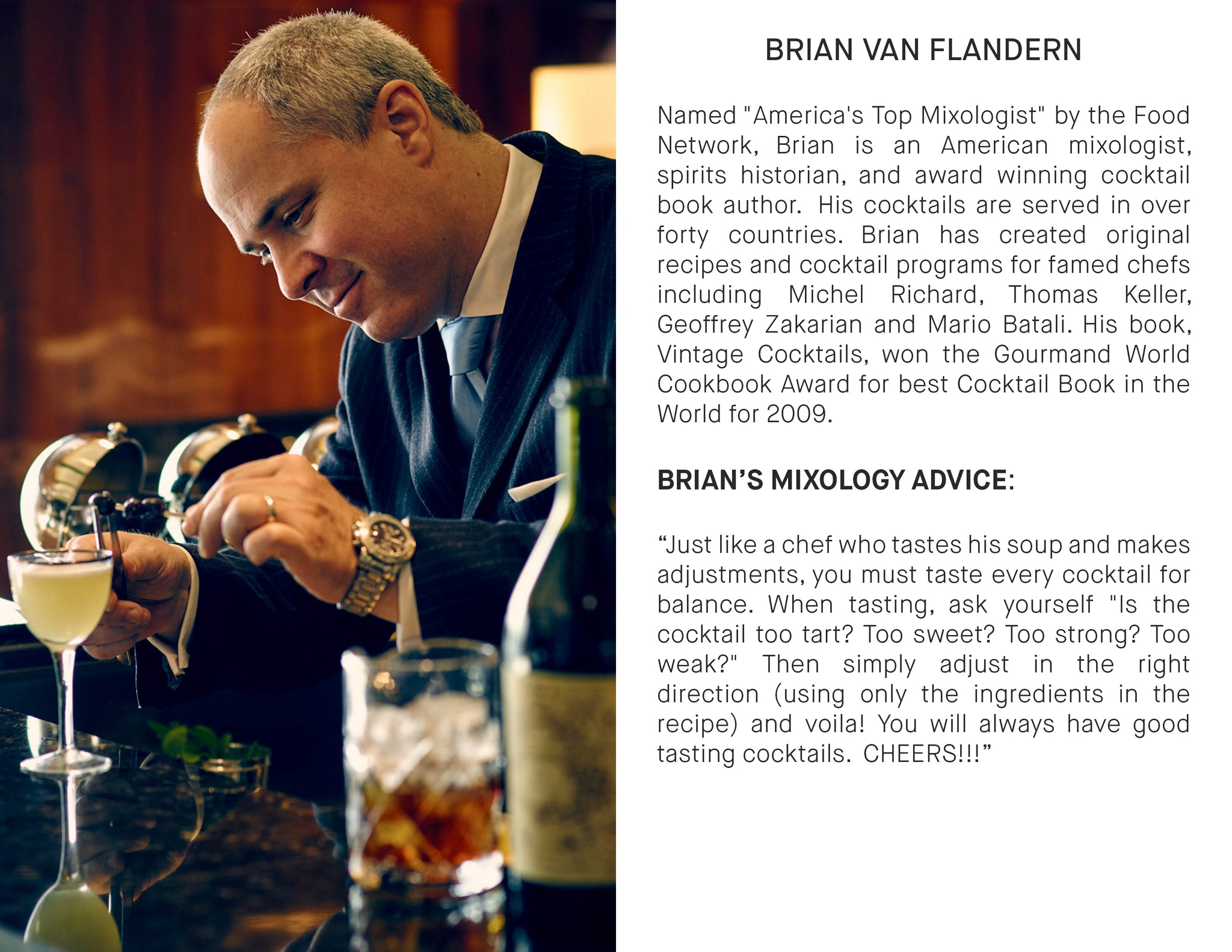 Brian Van Flandern, mixologist, craft cocktail