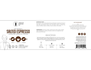 Gaz Regan's Salted Espresso Martini label