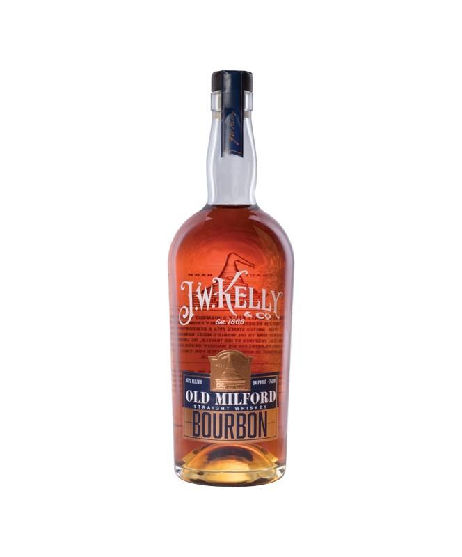 J.W. Kelly Old Milford Straight Bourbon Whiskey 750mL