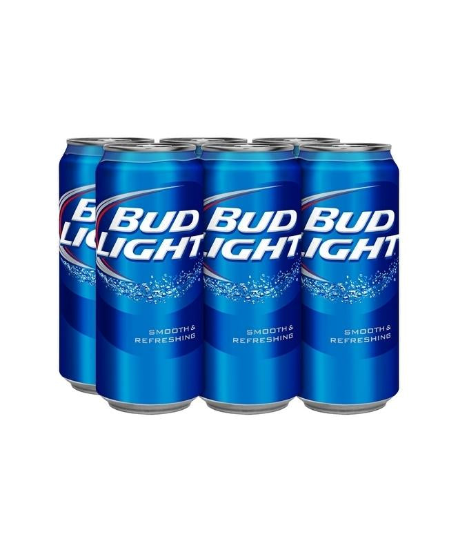 Bud Light 16oz 6 Pack Cans