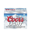 Coors Light 12oz 12 Pack Cans
