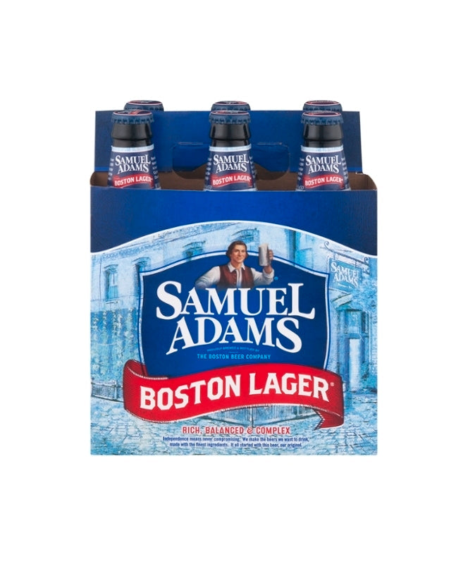 Samuel Adams Boston Lager 12oz 6 Pack Bottles