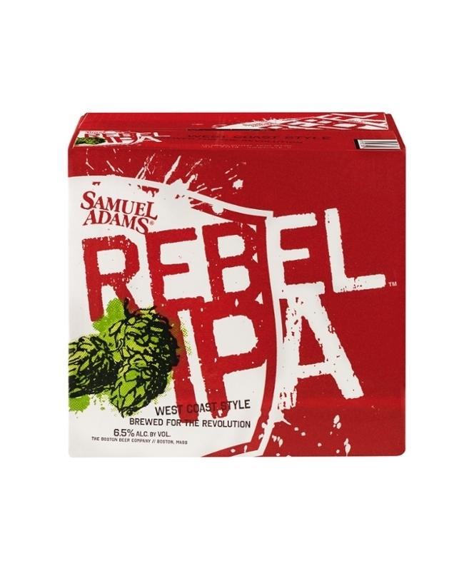 Samuel Adams Rebel IPA 12oz 12 Pack Bottles