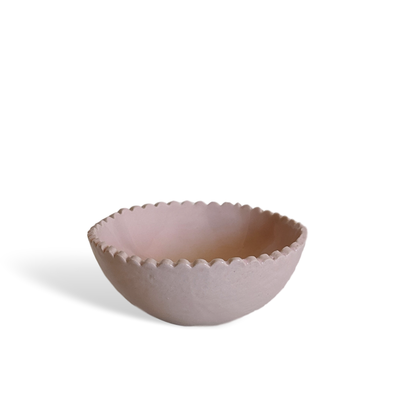 SCALLOP PINCH POT - PRAWN