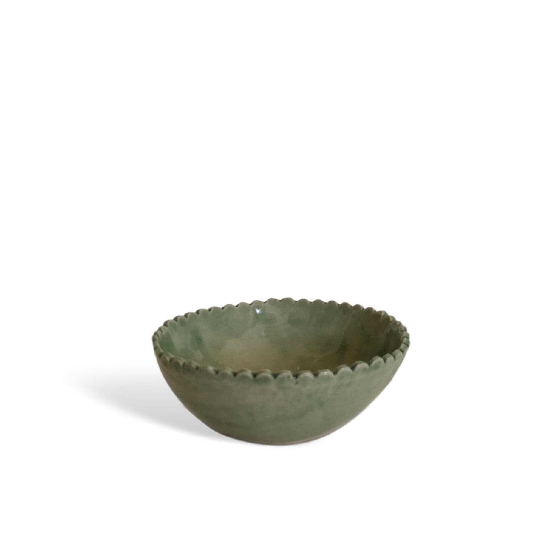 SCALLOP PINCH POT - MINT