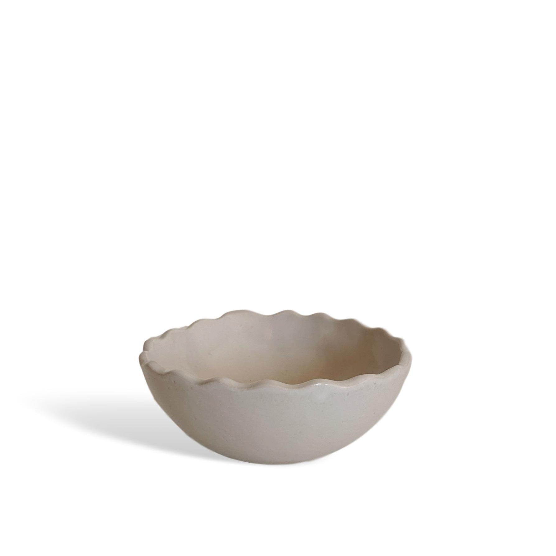 WAVY PINCH POT - WHITE
