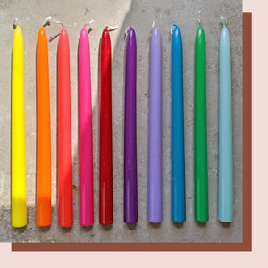 GLOSS RAINBOW CANDLE - 30cm