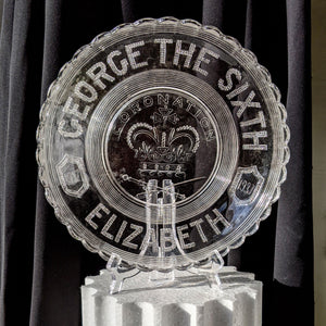 KING GEORGE V & QUEEN MARY SILVER JUBILEE COMMEMORATIVE GLASS DISH