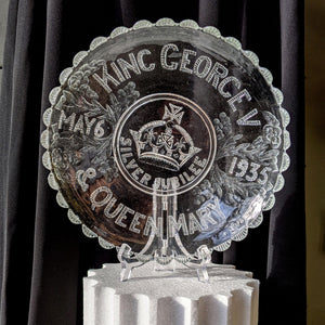 GEORGE THE SIXTH CORONATION COMMEMORATIVE GLASS DISH