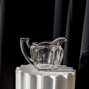CHIPPENDALE GLASS MILK JUG