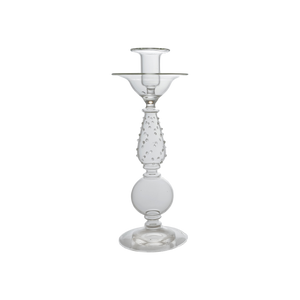 MYRTLE GLASS CANDLESTICK - CLEAR