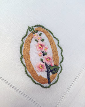 POLLY FERN X HOST HAND-EMBROIDERED 'FLORA' NAPKINS - SET OF 4
