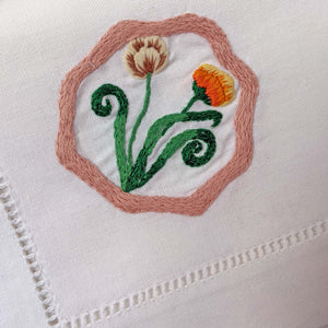 POLLY FERN X HOST HAND-EMBROIDERED 'WALLED GARDEN' NAPKINS - SET OF 4