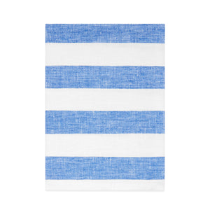 BLUE STRIPE LINEN BATH TOWEL